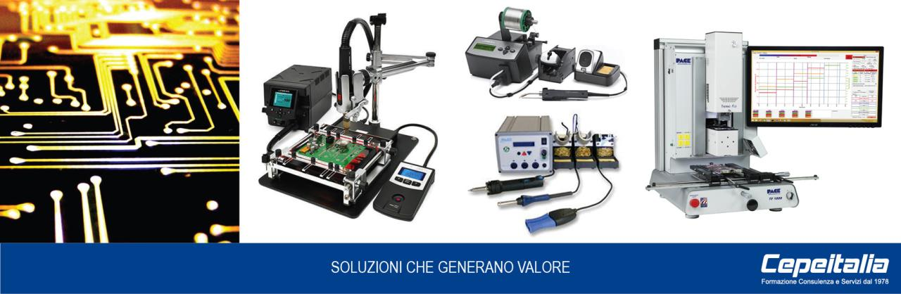 ATTREZZATURE ED ACCESSORI PER L'ELETTRONICA PROFESSIONALE