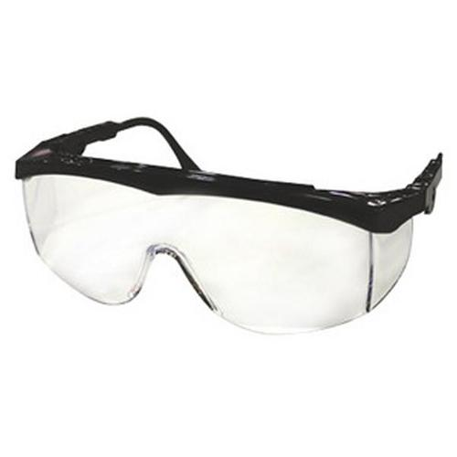 Crews Glasses, Safety, Tomahawk, Clear Lens, Blk Frm