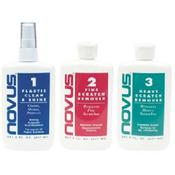 Novus Plastic Polish Kit 1/2/3 x 237 ml (8 once) + 6 panni