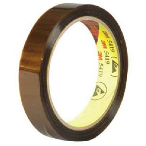 "3M Low Static Polyimide Tape 5419 1/4"" x 36 Yards 2.7 Mil"