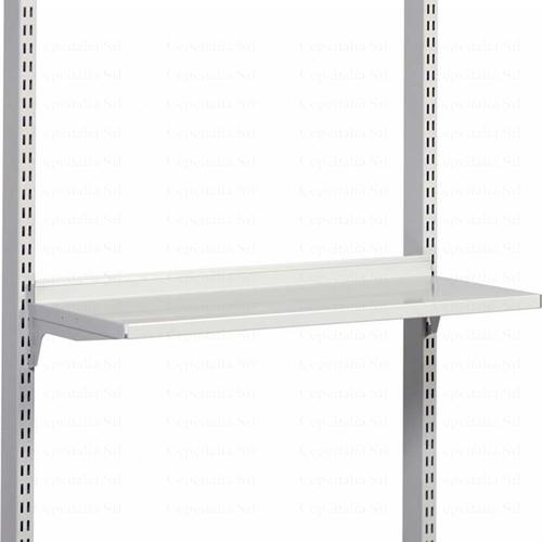 STEEL SHELF M1350x300 BRACKET LIGHT GREY