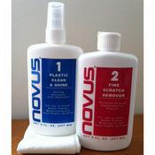 Novus Plastic Polish Kit 1&2 x 237 ml (8 once) + 4 panni